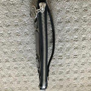 Coach Poppy Story Patent Leather Wristlet